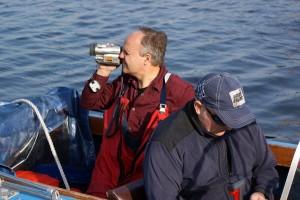 Reinhart Grahn nimmt Videos auf für die Trainer-Ausbildung beim Deutschen Ruderverband. Foto: A. König