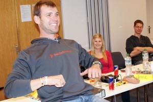 Marcel Hacker, vierfacher Olympiateilnehmer und Weltmeister 2002 im Einer, bei der Trainer B-Ausbildung 2012. Foto: A. König